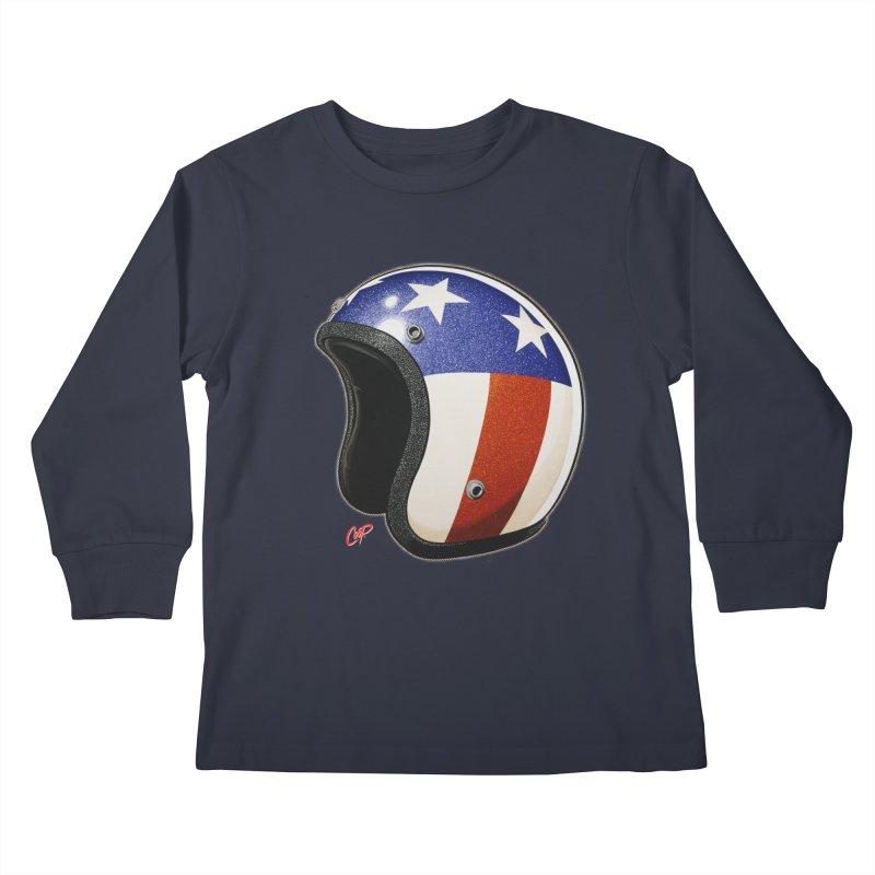 HELMET II Kids Longsleeve T-Shirt by artofcoop's Artist Shop