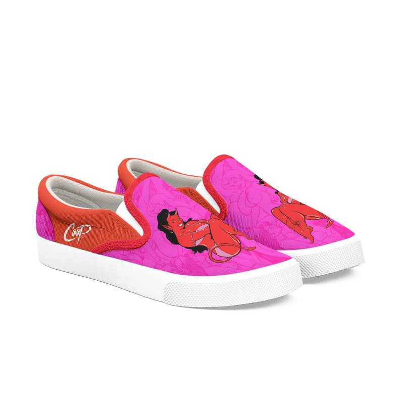 BIKINI DEVIL GIRL Men's Slip-On Shoes by The Art of Coop