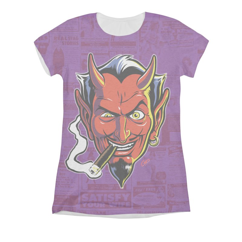 SMUT DEVIL Women's All Over Print by The Art of Coop
