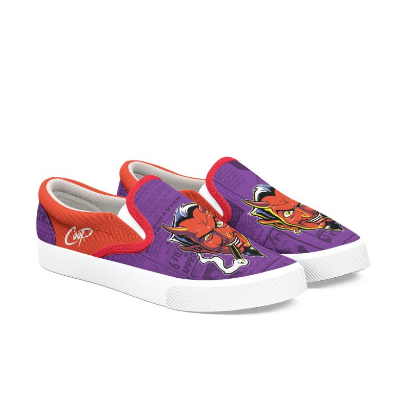 SMUT DEVIL Men's Slip-On Shoes by The Art of Coop