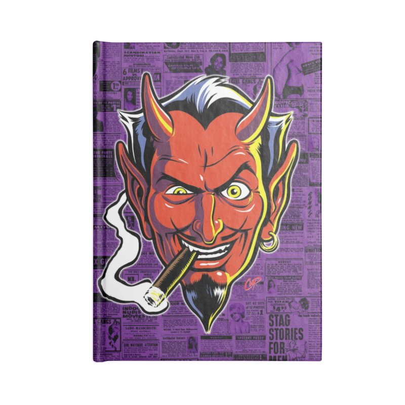 SMUT DEVIL Accessories Notebook by The Art of Coop