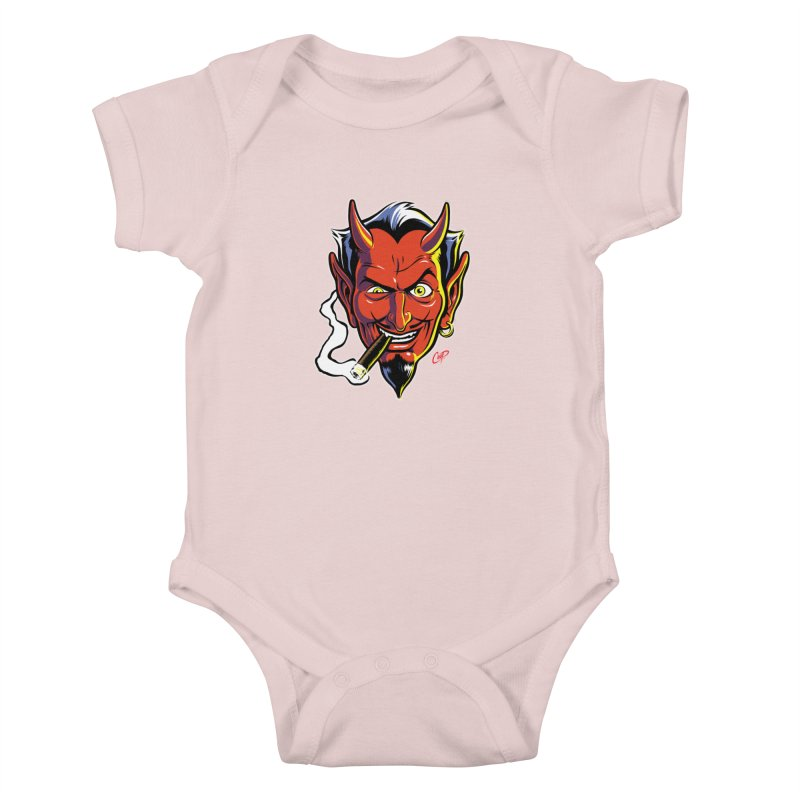 SMUT DEVIL Kids Baby Bodysuit by The Art of Coop