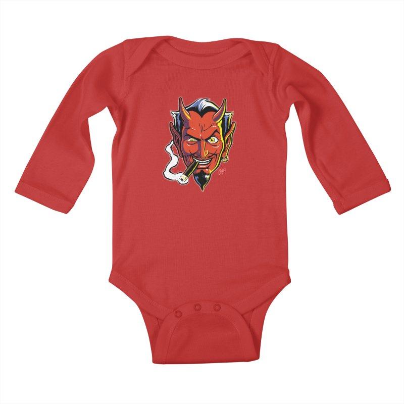 SMUT DEVIL Kids Baby Longsleeve Bodysuit by The Art of Coop