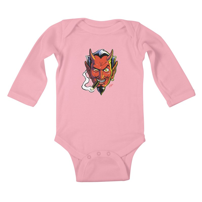 SMUT DEVIL Kids Baby Longsleeve Bodysuit by artofcoop's Artist Shop