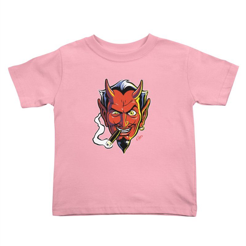 SMUT DEVIL Kids Toddler T-Shirt by The Art of Coop