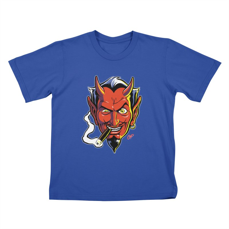 SMUT DEVIL Kids T-Shirt by The Art of Coop