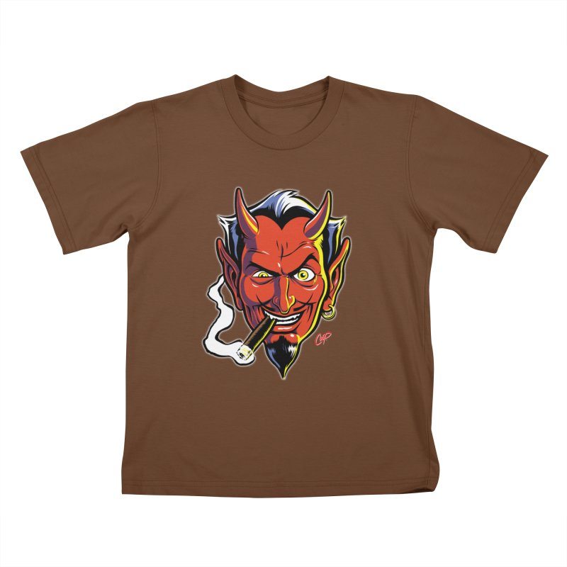 SMUT DEVIL Kids T-shirt by artofcoop's Artist Shop