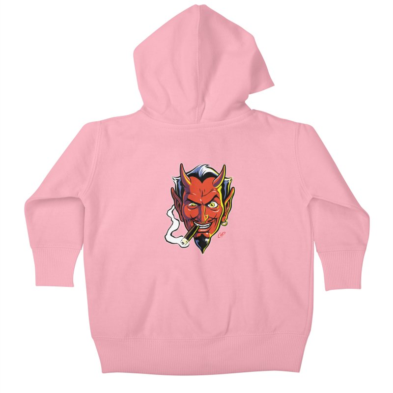 SMUT DEVIL Kids Baby Zip-Up Hoody by The Art of Coop
