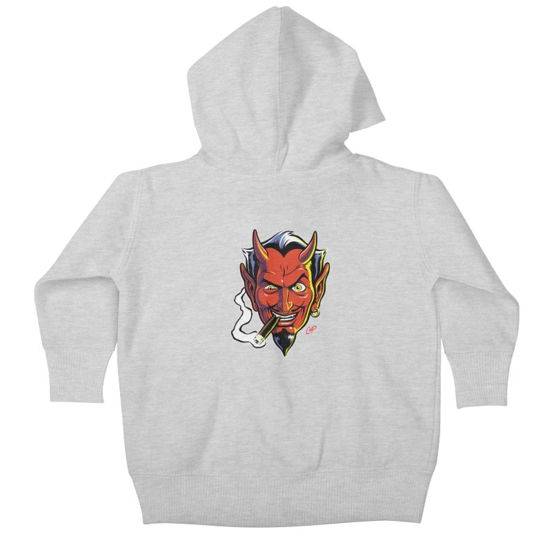SMUT DEVIL Kids Baby Zip-Up Hoody by artofcoop's Artist Shop