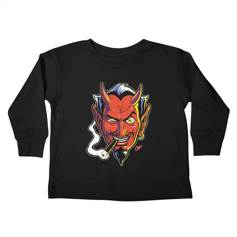 SMUT DEVIL Kids Toddler Longsleeve T-Shirt by The Art of Coop