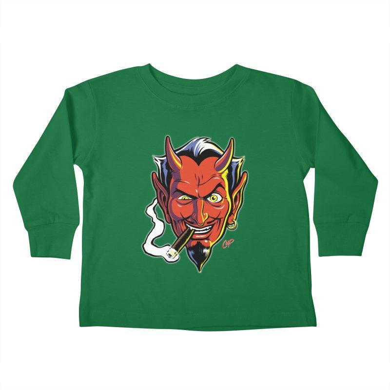 SMUT DEVIL Kids Toddler Longsleeve T-Shirt by artofcoop's Artist Shop