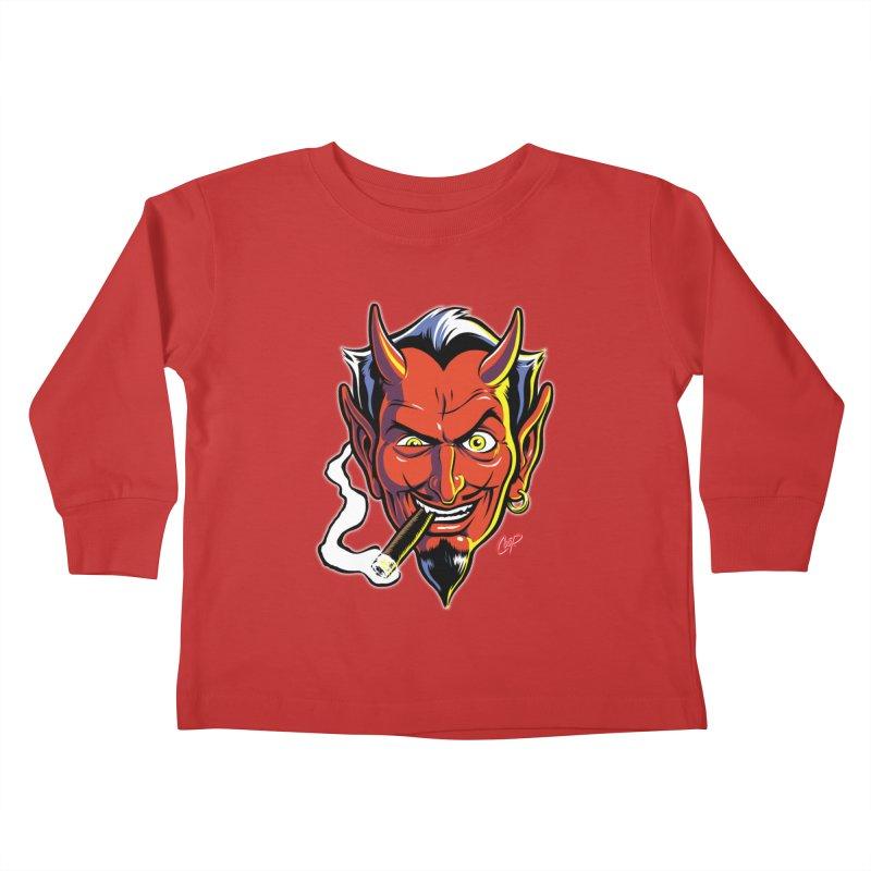 SMUT DEVIL Kids Toddler Longsleeve T-Shirt by The Art of Coop