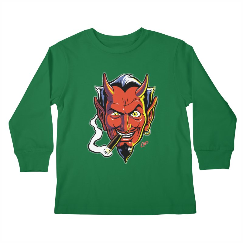 SMUT DEVIL Kids Longsleeve T-Shirt by artofcoop's Artist Shop