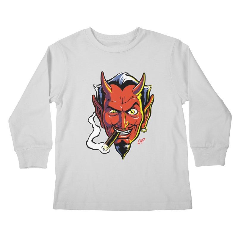 SMUT DEVIL Kids Longsleeve T-Shirt by artofcoop's Artist Shop