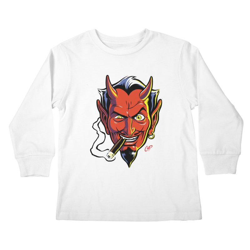 SMUT DEVIL Kids Longsleeve T-Shirt by The Art of Coop