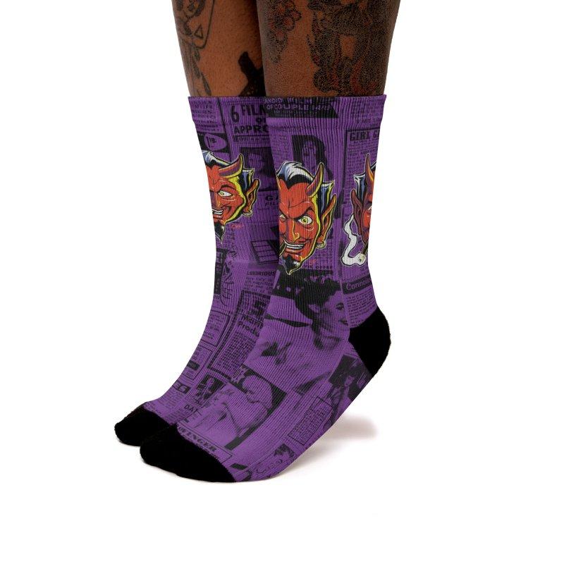 SMUT DEVIL Women's Socks by The Art of Coop