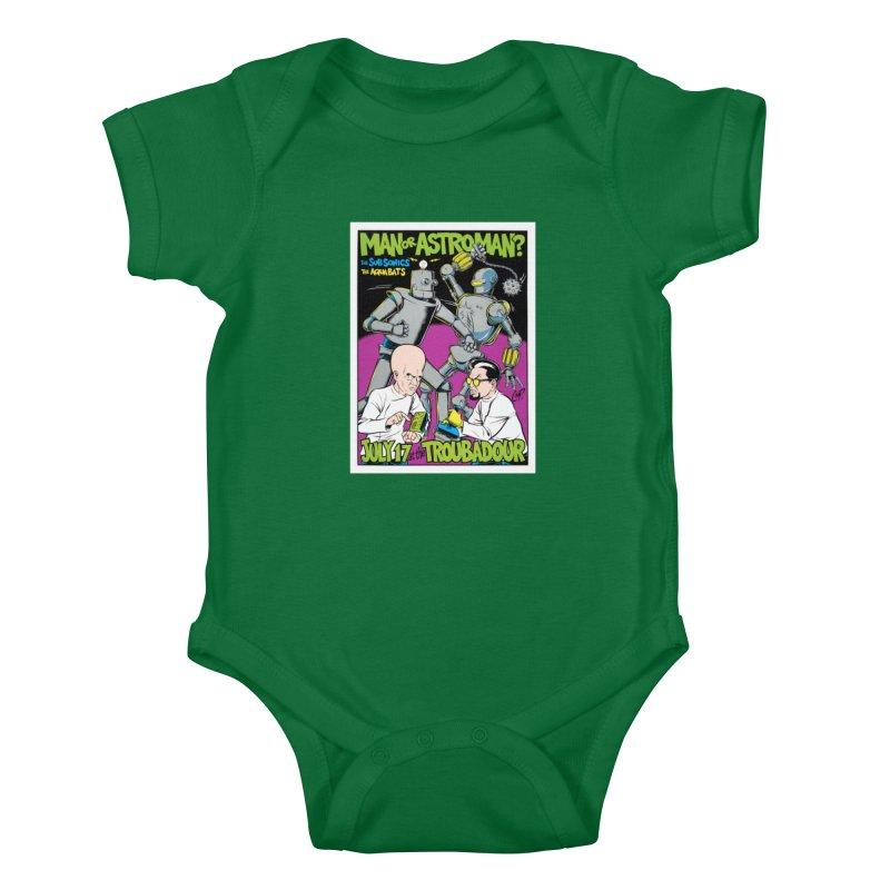 ROBOT BATTLE Kids Baby Bodysuit by artofcoop's Artist Shop