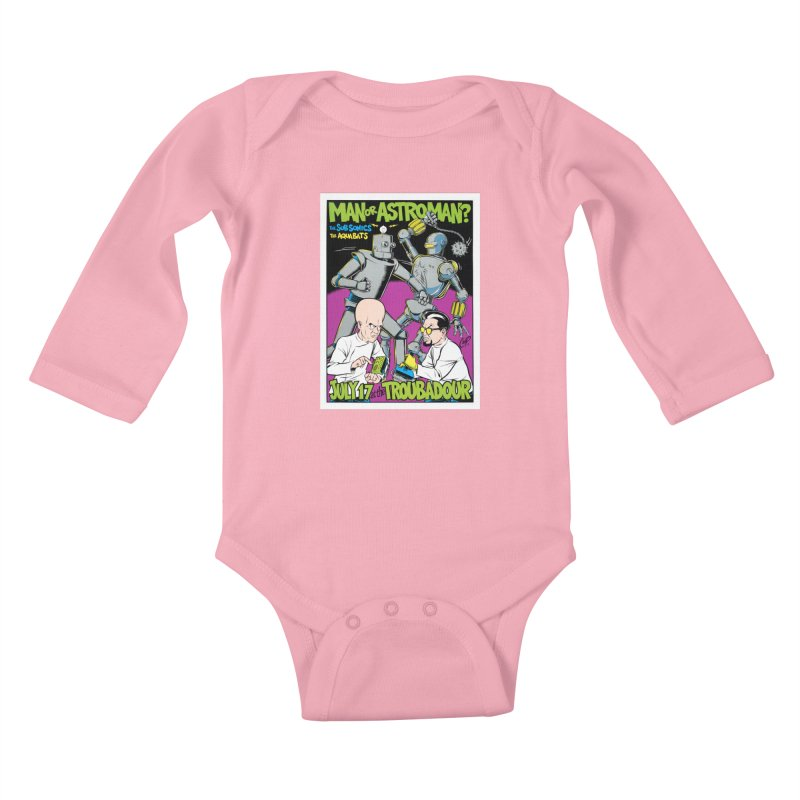 ROBOT BATTLE Kids Baby Longsleeve Bodysuit by artofcoop's Artist Shop