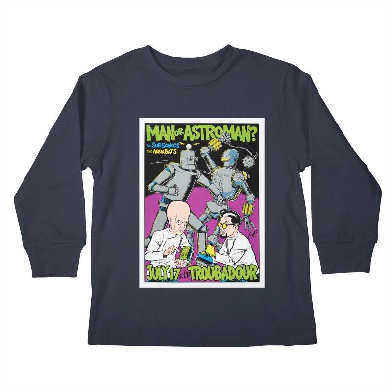 ROBOT BATTLE Kids Longsleeve T-Shirt by artofcoop's Artist Shop