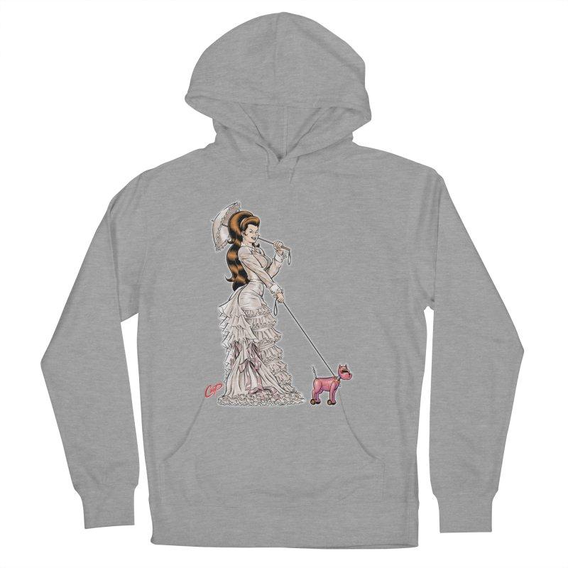 WALKIN THE DOG Women's Pullover Hoody by artofcoop's Artist Shop