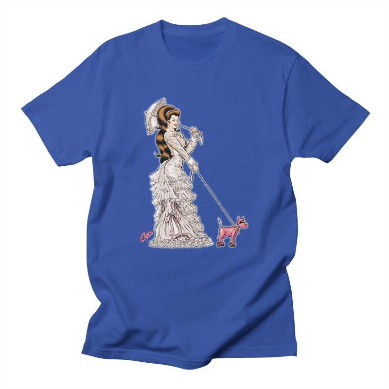 WALKIN THE DOG Women's Unisex T-Shirt by artofcoop's Artist Shop