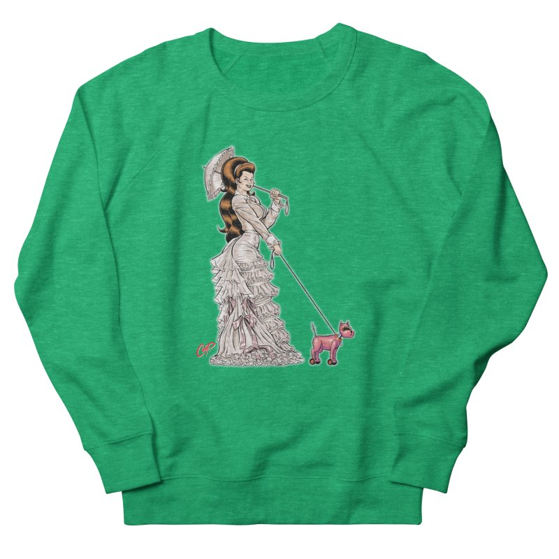WALKIN THE DOG Women's Sweatshirt by artofcoop's Artist Shop