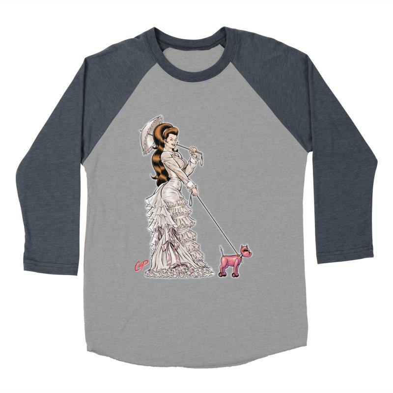 WALKIN THE DOG Women's Baseball Triblend T-Shirt by artofcoop's Artist Shop