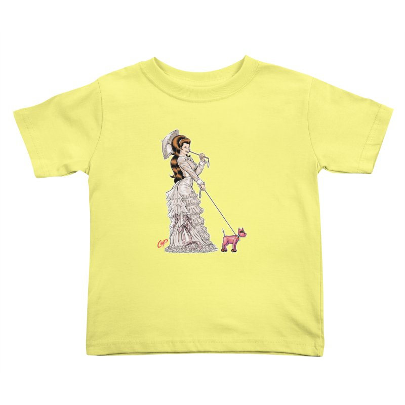 WALKIN THE DOG Kids Toddler T-Shirt by The Art of Coop