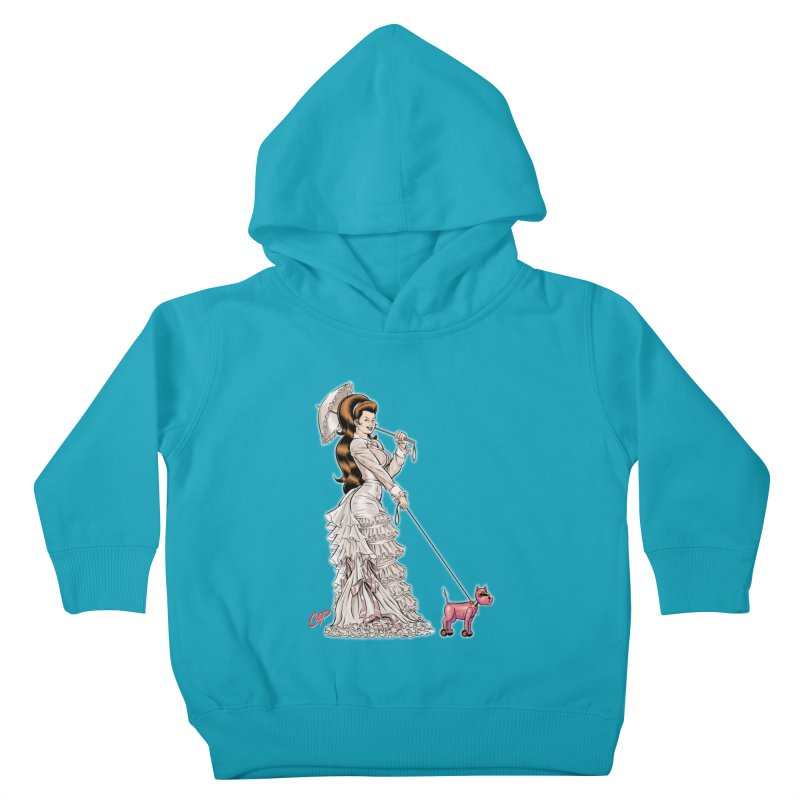 WALKIN THE DOG Kids Toddler Pullover Hoody by The Art of Coop