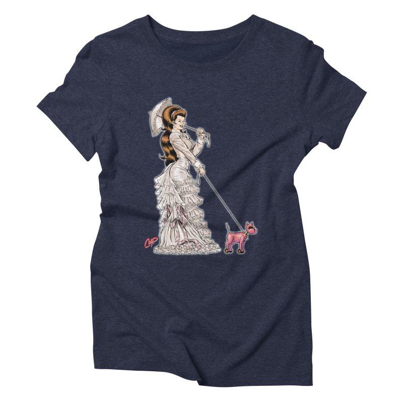 WALKIN THE DOG Women's Triblend T-shirt by artofcoop's Artist Shop