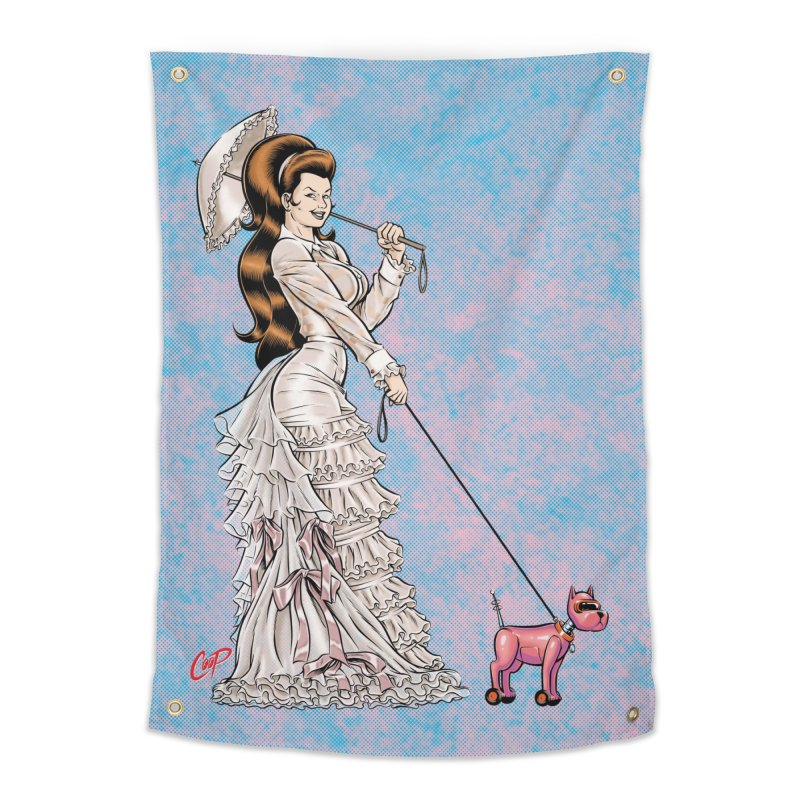 WALKIN THE DOG in Tapestry by artofcoop's Artist Shop
