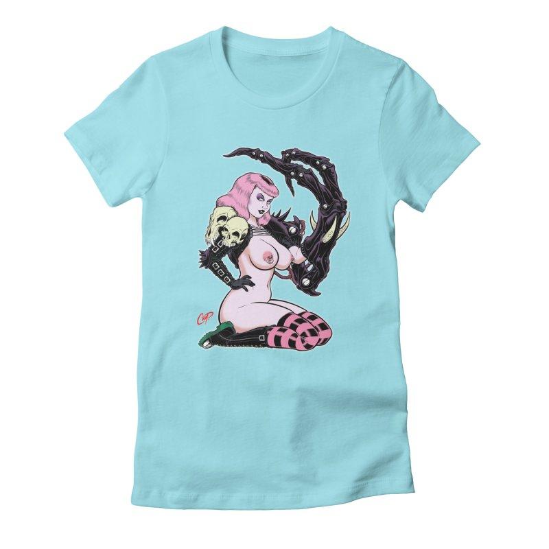 BIOMECH BABY Women's Fitted T-Shirt by artofcoop's Artist Shop
