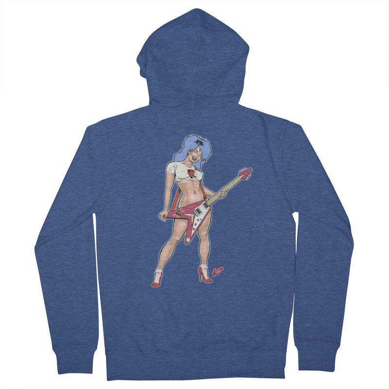 ROCK N ROLLER Men's Zip-Up Hoody by artofcoop's Artist Shop