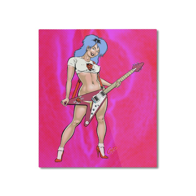 ROCK N ROLLER Home Mounted Aluminum Print by artofcoop's Artist Shop