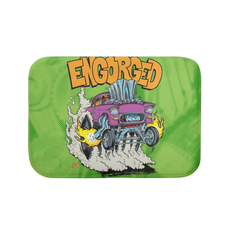 ENGORGED II Home Bath Mat by artofcoop's Artist Shop