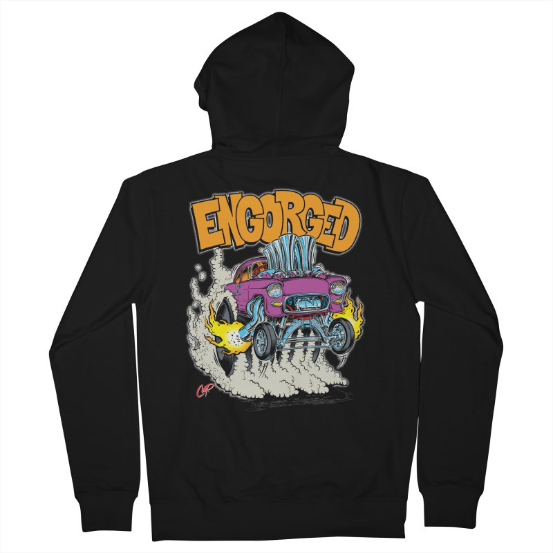 ENGORGED II Men's Zip-Up Hoody by artofcoop's Artist Shop
