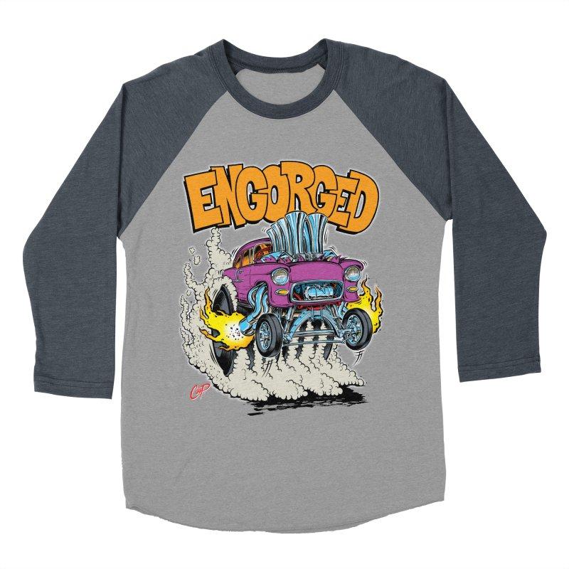 ENGORGED II Men's Baseball Triblend T-Shirt by artofcoop's Artist Shop