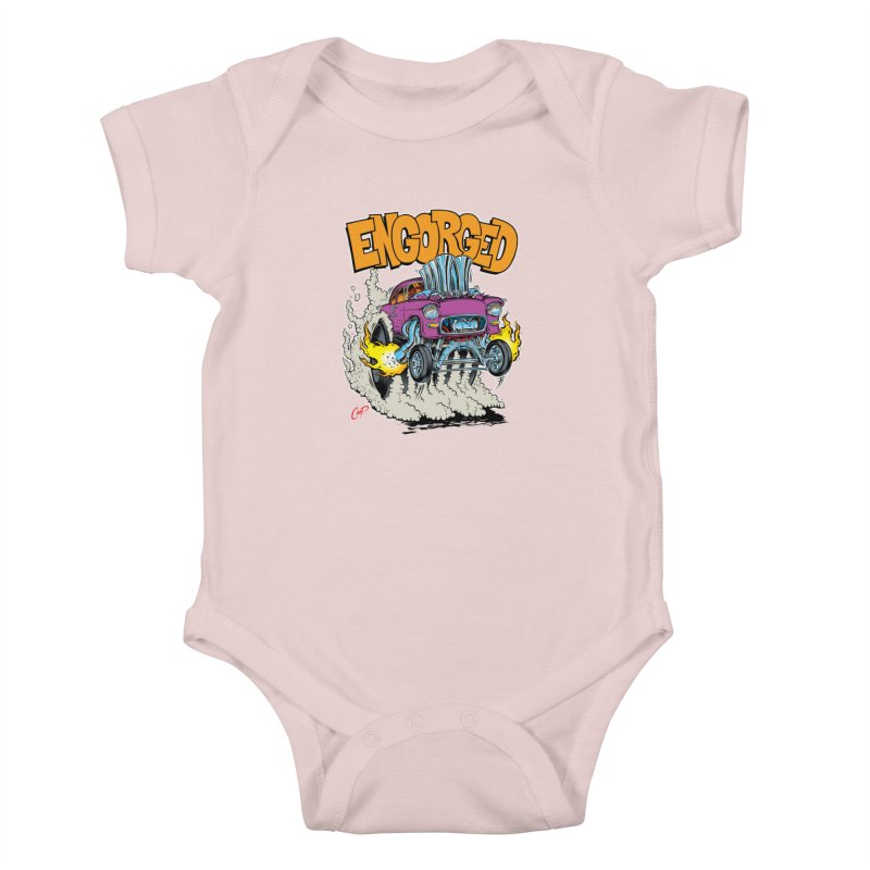 ENGORGED II Kids Baby Bodysuit by The Art of Coop