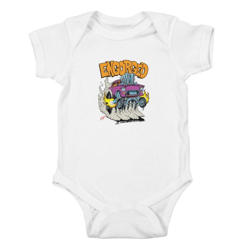 ENGORGED II Kids Baby Bodysuit by artofcoop's Artist Shop