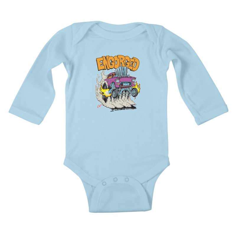 ENGORGED II Kids Baby Longsleeve Bodysuit by artofcoop's Artist Shop