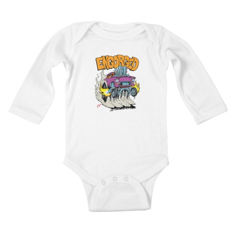 ENGORGED II Kids Baby Longsleeve Bodysuit by artofcoop's Artist Shop