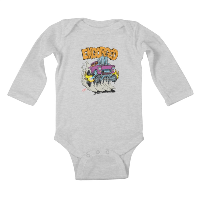 ENGORGED II Kids Baby Longsleeve Bodysuit by The Art of Coop