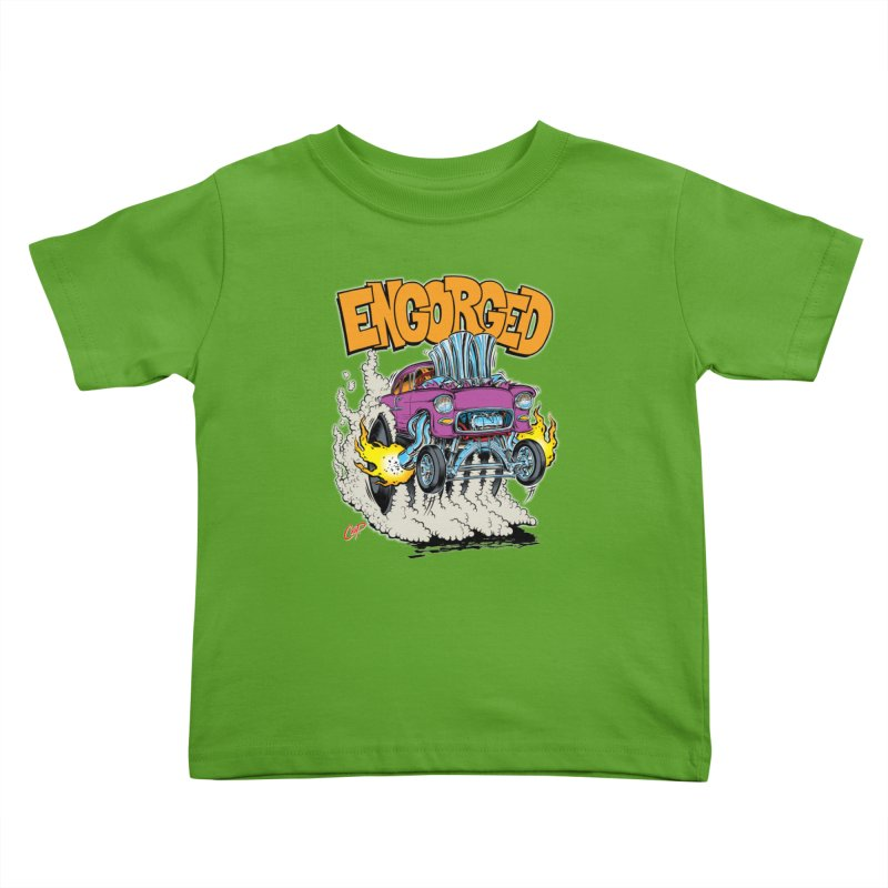 ENGORGED II Kids Toddler T-Shirt by The Art of Coop