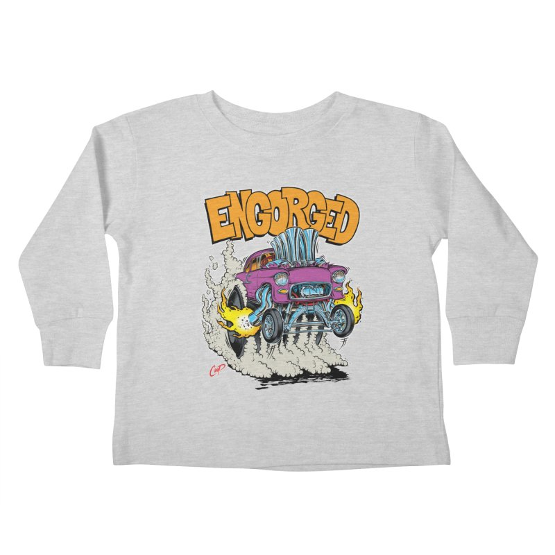 ENGORGED II Kids Toddler Longsleeve T-Shirt by The Art of Coop