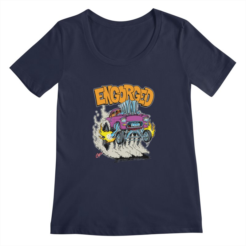 ENGORGED II Women's Scoopneck by artofcoop's Artist Shop