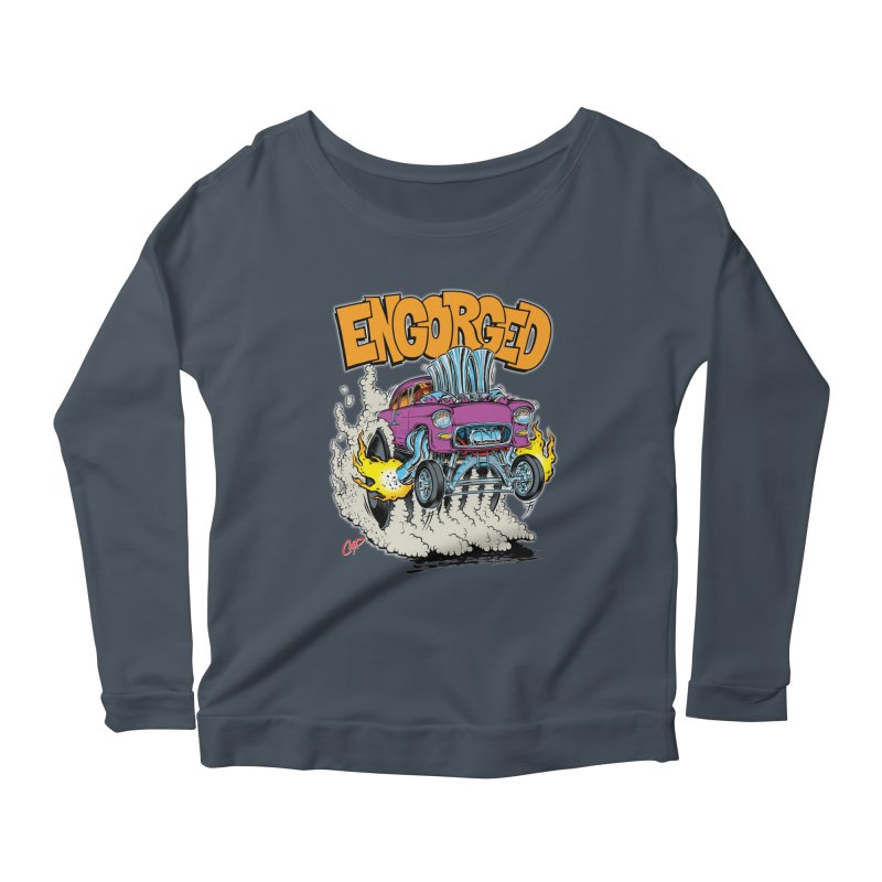 ENGORGED II Women's Longsleeve Scoopneck  by artofcoop's Artist Shop