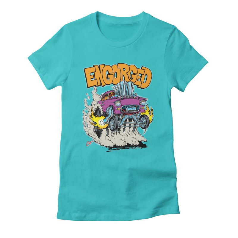 ENGORGED II Women's Fitted T-Shirt by artofcoop's Artist Shop