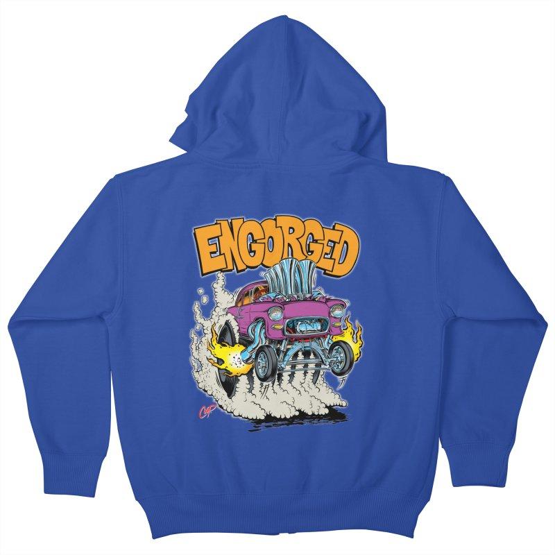 ENGORGED II Kids Zip-Up Hoody by artofcoop's Artist Shop