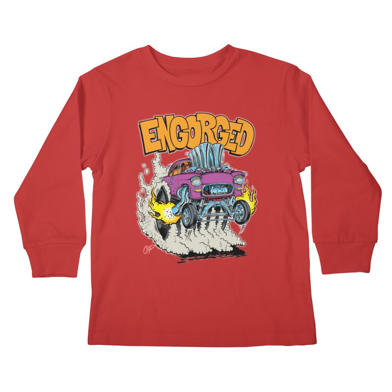 ENGORGED II Kids Longsleeve T-Shirt by The Art of Coop