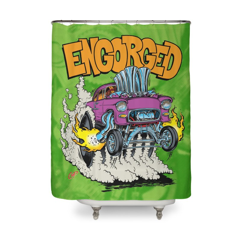 ENGORGED II Home Shower Curtain by artofcoop's Artist Shop